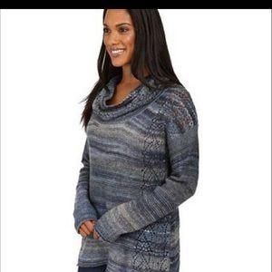 Royal Robbins Blue Chunky Cowl Neck Sweater, Sz L